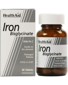 Health Aid Iron Bisglycinate 30mg 90 Tabs Σίδηρος Δισγλυκινικός