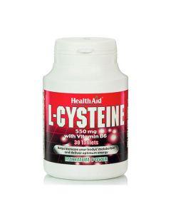 Health Aid L-Cysteine + Vitamin B6 30 Tabs