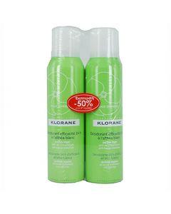 Klorane Deodorant Efficacite Spray 2 x 125ml