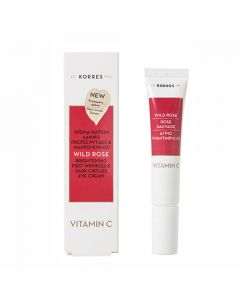 Korres Wild Rose Vitamin C Brightening First Wrinkles Dark Circles Eye Cream 15ml
