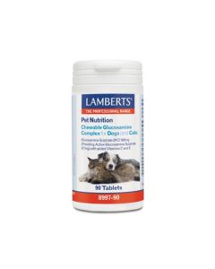 Lamberts Pet Nutrition Chewable Glucosamine Complex for Dogs/Cats 90 Tabs