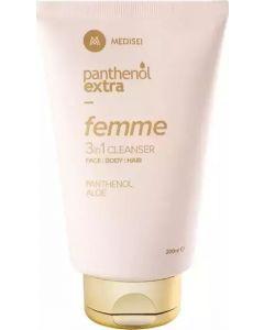 Panthenol Extra Femme 3 in 1 Cleanser Face Body & Hair200ml Καθαριστικό για Πρόσωπο, Σώμα & Μαλλιά