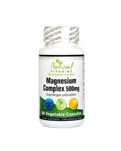 Natural Vitamins Magnesium Complex 500mg 60 VCaps