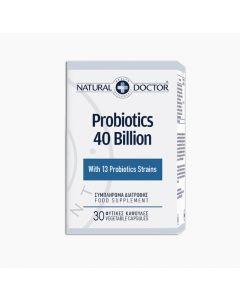 Natural Doctor Probiotics 40 Billion Active Good Bacteris Supercharged 13 Beneficial Strains 30 Caps για την Φυσιολογική Λειτουργία του Εντέρου