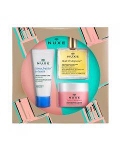 Nuxe Essential Face Care με Huile Prodigieuse Ξηρό Λάδι 50ml, Insta Masque Μάσκα Απολέπισης 50ml & Creme Fraiche Ενυδατική Κρέμα για Κανονική Επιδερμίδα 30ml
