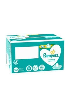 Pampers Baby Wipes Sensitive 12 x 52