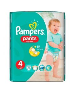 Pampers Pants Maxi No4 (9 - 14kg) 16