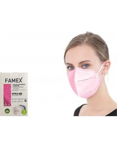 Famex FFP2 NR Μάσκα Προστασίας Ροζ 10τμχ
