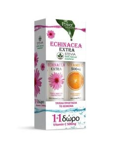Power Health Echinacea Extra with Stevia 24 Tabs + Vitamin C 500mg 20 Tabs