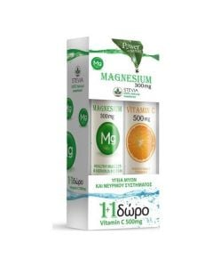 Power Health Magnesium 300mg Stevia + Vitamin C 500mg