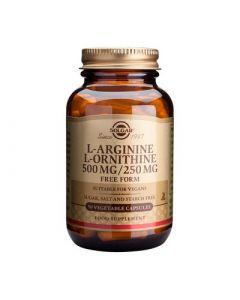 Solgar L-Arginine L-Ornithine 500/250mg 50 Veg. Caps