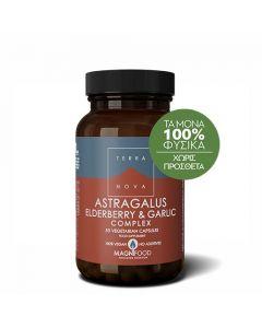 Terranova Astragalus, Elderberry & Garlic Complex 50 Caps