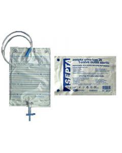 Asepta Urine Bag with T-valve Outlet Sterile 1 Item