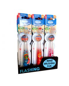 B-Brite Flashing Timer Soft Toothbrush Kids Οδοντόβουρτσα για Παιδιά που Αναβοσβήνει 1 Τεμάχιο