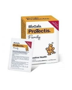 BioGaia ProTectis Family Πόσιμο Προβιοτικό Διάλυμα με Ψευδάργυρο - Γεύση Πορτοκάλι 5.5gr x 7 Φακελίσκοι