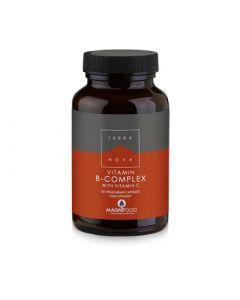 Terranova Vitamin B-Complex with Vitamin C 50 Caps Σύμπλεγμα Βιταμινών