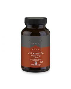 Terranova Vitamin D3 Complex 2000iu (50ug) 50 Caps Βιταμίνη D3 με Υπερτροφές