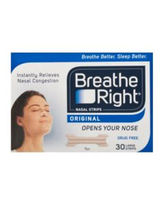 Breathe Right Nasal Strips Ρινικές Ταινίες Large Μέγεθος 30 Τεμάχια