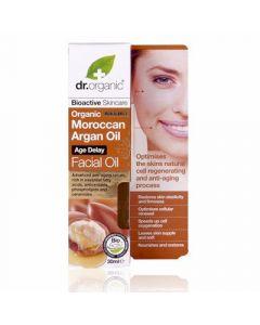 Dr. Organic Organic Moroccan Argan Oil Facial Oil 30ml Αντιγηραντικό Λάδι Έλαιο Αργκάν