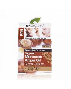Dr. Organic Organic Moroccan Argan Oil Night Cream 50ml Αντιγηραντική Κρέμα Νύχτας Έλαιο Αργκάν