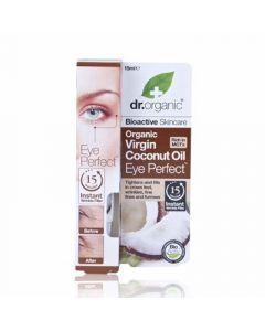 Dr. Organic Organic Virgin Coconut Oil Eye Perfect 15ml Αντιρυτιδικός Ορός Ματιών 'Ελαιο Καρύδας