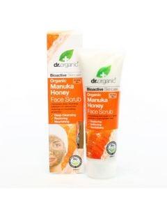 Dr. Organic Manuka Honey Face Scrub 125ml Κρέμα Απολέπισης με Μέλι Μανούκα