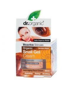 Dr. Organic Snail Gel Face Cream 50ml Αντιγηραντική Ενυδατική Κρέμα Προσώπου με Έκκριμα Σαλιγκαριού