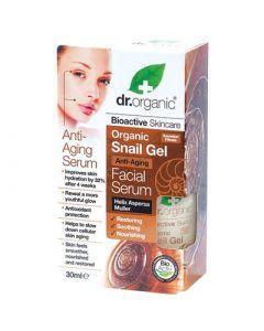 Dr. Organic Snail Gel Facial Serum 30ml Αντιγηραντικός Ορός Προσώπου με Έκκριμα Σαλιγκαριού