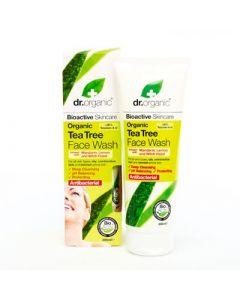 Dr. Organic Tea Tree Face Wash 200ml Ζελ Καθαρισμού Προσώπου με Τεϊόδεντρο