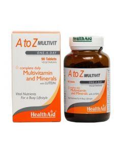 Health Aid A to Z Multivit - Lutein 90 Tabs Multivitamin