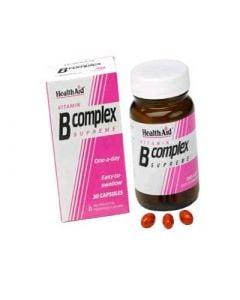 Health Aid B Complex Supreme 30 Caps Σύμπλεγμα Βιταμινών Β