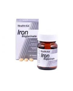 Health Aid Iron Bisglycinate 30mg 30 Tabs