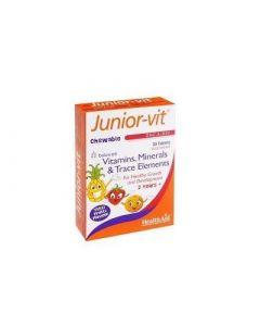 Health Aid Junior-Vit Children's 30 Chewable Tabs Multivitamin