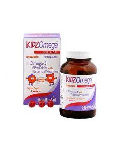 Health Aid Kidz Omega Μασώμενο Πορτοκάλι 60 Caps