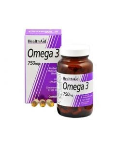Health Aid Omega 3 750mg 60 Caps Fatty Acids