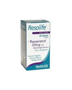 Health Aid Resolife Resveratrol 250mg 60 Vecaps Αντιοξειδωτικό