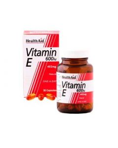 Health Aid Vitamin E 600iu 60 Caps