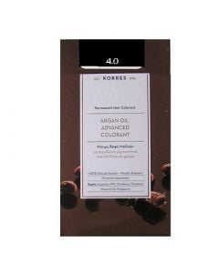 Korres Argan Oil Advanced Colorant 50ml Μόνιμη Βαφή Μαλλιών 4.0 Καστανό Φυσικό