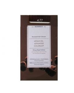Korres Argan Oil Advanced Colorant 50ml Μόνιμη Βαφή Μαλλιών 4.77 Σκούρο Σοκολατί