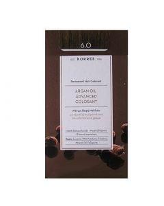 Korres Argan Oil Advanced Colorant 50ml Μόνιμη Βαφή Μαλλιών 6.0 Ξανθό Σκούρο Φυσικό