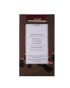 Korres Argan Oil Advanced Colorant 50ml Permanent Hair Colorant 66.46 Intense Burgundy Red