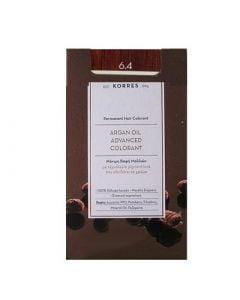 Korres Argan Oil Advanced Colorant 50ml Μόνιμη Βαφή Μαλλιών 6.4 Ξανθό Σκούρο Χάλκινο