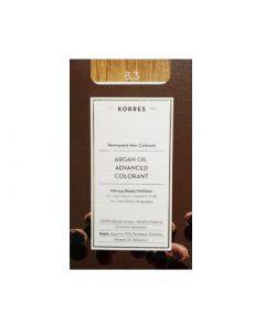 Korres Argan Oil Advanced Colorant 50ml Μόνιμη Βαφή Μαλλιών 8.3 Ξανθό Ανοιχτό Μελί