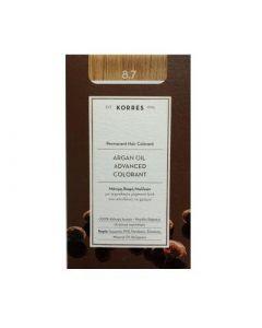 Korres Argan Oil Advanced Colorant 50ml Μόνιμη Βαφή Μαλλιών 8.7 Καραμέλα