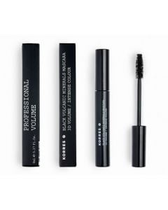 Korres Black Volcanic Minerals Mascara 3D Volume 8ml Μαύρη Μάσκαρα για Όγκο