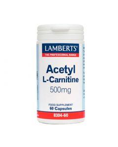 Lamberts Acetyl L Carnitine των 500mg 60 Caps Αμινοξέα