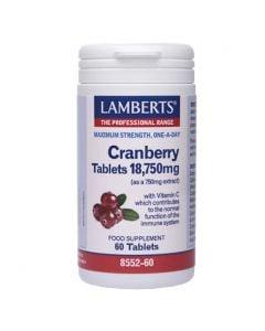 Lamberts Cranberry 18750mg 60 Tabs για το Ουροποιητικό Σύστημα