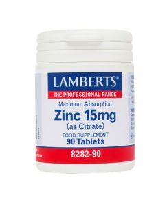 Lamberts Zinc 15mg Citrate 90 Tabs Ψευδάργυρος