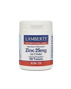 Lamberts Zinc 25mg Citrate 120 Tabs Ψευδάργυρος