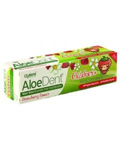 Optima AloeDent Strawberry Children's Toothpaste 50ml Οδοντόκρεμα Φράουλα για Παιδιά
